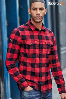 Superdry Red Rookie Plaid Shirt