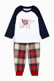 Tartan Baby Bear Snuggle Fit Pyjamas (9mths-8yrs)