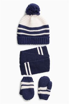 Hat, Gloves And Scarf Set (Younger Boys)
