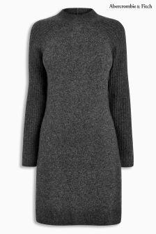 Abercrombie & Fitch Grey Long Sleeve Knit Dress