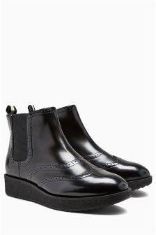 Chunky Chelsea Ankle Boots