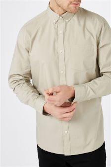 Popelinowa koszula z długim rękawem