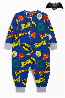 Batman® Superman® All Over Print Sleepsuit (9mths-8yrs)