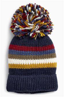 Stripe Retro Pom Hat (Older Boys)