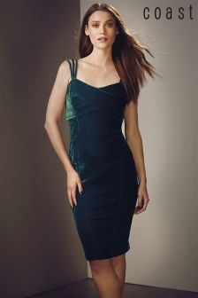 Coast Green Scarlett Velvet Dress