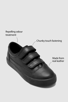 Leather Skate Strap Shoes (Older Boys)
