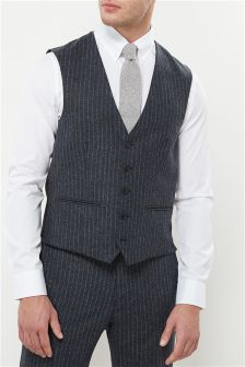 Stripe Nep Slim Fit Suit: Waistcoat