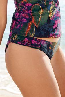 Printed High Leg Bikini Briefs