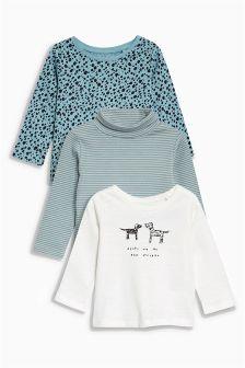 Dog Embellished T-Shirts Three Pack (3-6yrs)