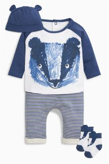 Badger Four Piece Set (0mths-2yrs)