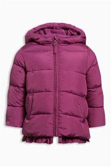 Дутая куртка с оборкой по низу (3 мес.-6 лет)