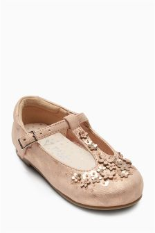 Flower T-Bar Shoes (Younger Girls)