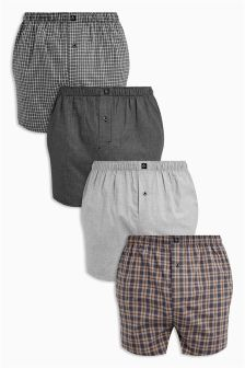 Pattern Woven Boxers Four Pack