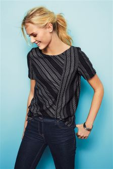 Stripe Jacquard Top