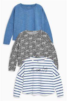 Long Sleeve T-Shirts Three Pack (3-16yrs)