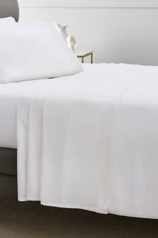 300 Thread Count White Flat Sheet