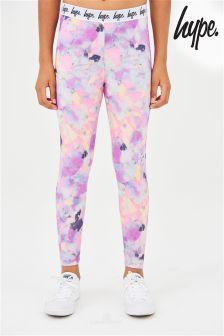 Hype Pink Pastel Sponge Print Legging