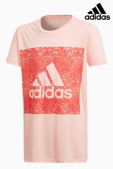 adidas Pink Leopard Print Tee