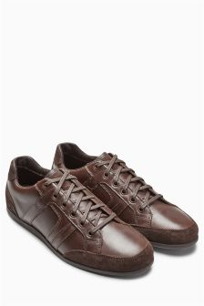 Leather Mix Trainer