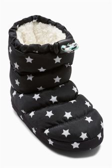Star Slipper Boots (Younger Boys)