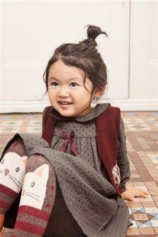 طقم جاكيت وفستان منقط من Cat (3 أشهر -6 سنوات)
