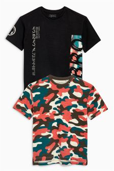 Printed T-Shirts Two Pack (3-16yrs)
