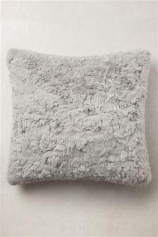 Textured Faux Fur Cushion