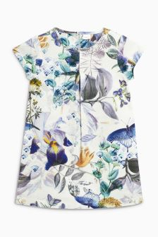 Floral Textured Shift Dress (3-16yrs)