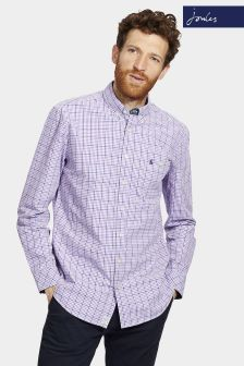 Joules Purple Gingham Classic Fit Hewney Shirt