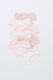 花朵图案三角裤七条装 (1.5-16岁)