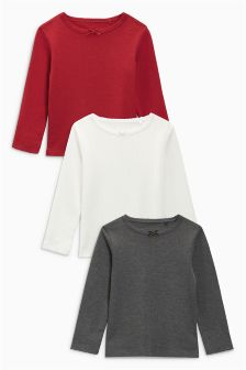 Pointelle T-Shirts Three Pack (3mths-6yrs)