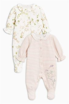 Floral Sleepsuits Two Pack (0mths-2yrs)
