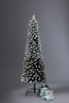Schmaler verschneiter Weihnachtsbaum Vermont, 6 cm