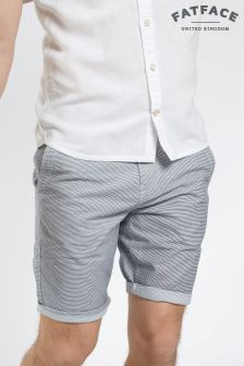 Fat Face Navy Micro Stripe Short
