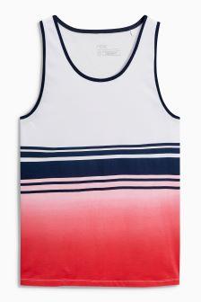 Dip Dye Stripe Vest