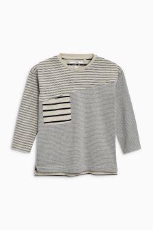 Long Sleeve Spliced T-Shirt (3mths-5yrs)