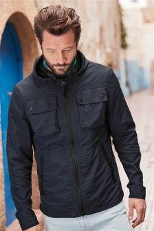 Lightweight Hooded Utility Jacket