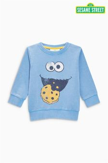 Niebieska bluza Cookie Monster Crew (3m-cy-6lata)
