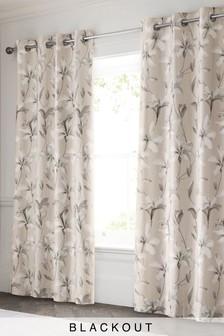 Затемняющие шторы из хлопкового сатина с цветами