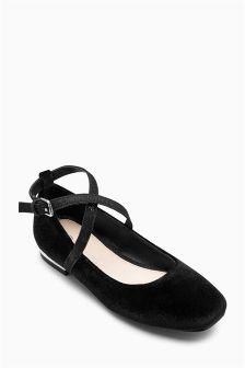 Square Toe Heeled Ballerinas (Older Girls)
