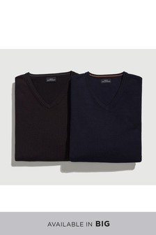V-Neck Crews Two Pack