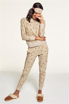Fox Print Cosy Pyjamas