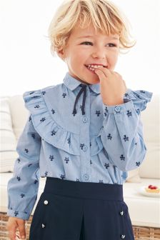 Cat Jacquard Shirt (3mths-6yrs)