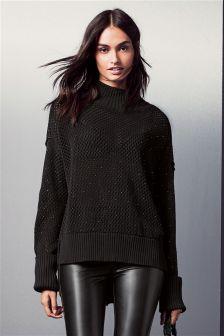Stud Embellished Sweater