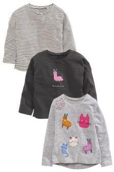 ثلاثة تي شيرت مطبوعة Llama (3 أشهر -6 سنوات)