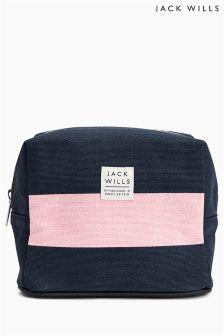 Jack Wills Navy/Pink Varnham Mini Wash Bag
