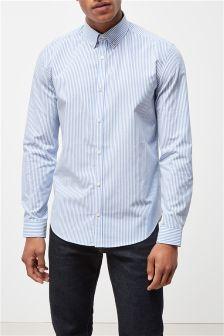 Long Sleeve Fine Stripe Shirt