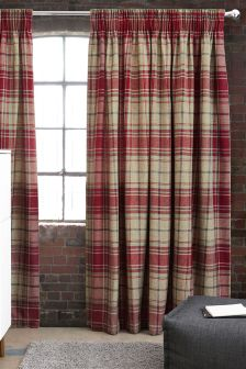 Morcott Woven Check Curtains