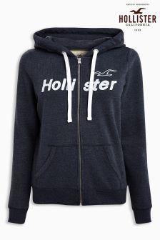 Hollister Navy Zip Hoody
