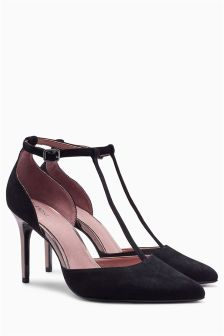 Suede Leather T-Bar Courts